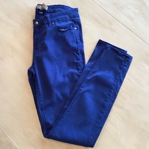 Denim - PAIGE Bright Blue Vendugo Legging Jeans highrise